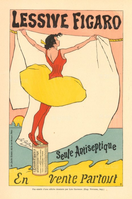 Seule Antiseptique en Vente Parout. Advertisement by the impressionist painter Leo Gausson.
