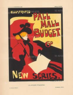 SOLD. Illustrated Pall Mall Budget: The iconic cover by Maurice Greiffenhagen for the weekly gazette.