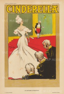 Cinderella: Advertisement for the Drury Lane pantomime by Dudley Hardey, a pioneer of the 'artistic poster' which was seen to elevate the genre.