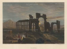 "Wilson: Palmyra. 1883. A hand coloured original antique steel engraving. 11"" x 9"". [MEASTp1445]"