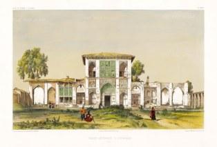 Iran: Asterabad (Gorgan). Front facade of the Royal Palace. After Jules Laurens.