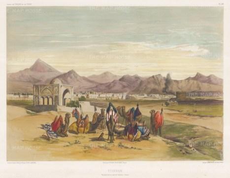 Iran: Tehran. View on the road to Casbinn (Qazvin). After Jules Laurens.