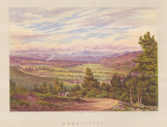 "Barraud: Rangitikei. 1877. An original antique chromolithograph. 17"" x 12"". [NWZp256]"