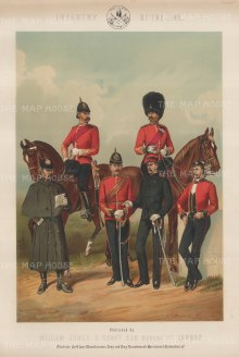 "Jones & Co: Infantry of the Line. c1886. An original antique chromolithograph. 13"" x 18"". [MILp11]"