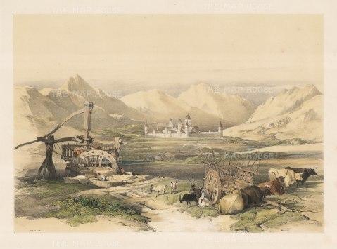 El Escorial. View from the environs of San Lorenzo de El Escorial.
