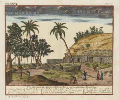 Adam's Peak (Sri Pada). Prospect of the shrine with Brahmins and key in Dutch.