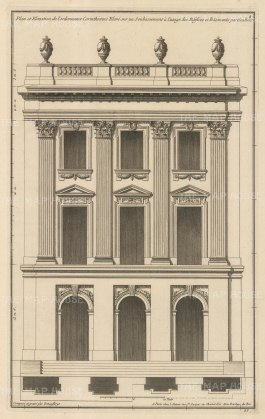 Plan and Elevation in the Corinthian Order