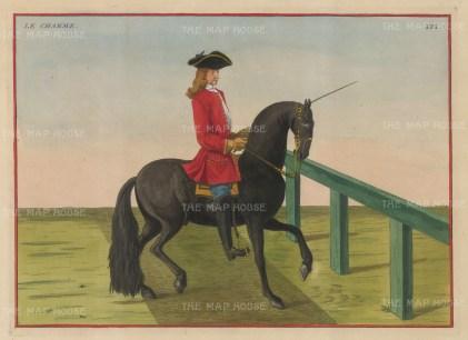 "Eisenberg: La Charme. 1727. A hand coloured original antique copper engraving. 13"" x 10"". [NATHISp2708]"