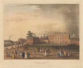"Ackermann: Buckingham Palace: 1809. An original colour antique aquatint. 11"" x 9"". [LDNp10519]"