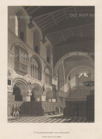 "Malton: St Bartholemew. 1800. An original antique aquatint. 11"" x 14"". [LDNp3009]"