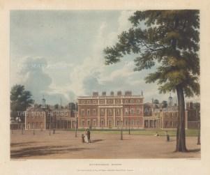 "Pyne: Buckingham House. 1818. An original colour antique aquatint. 10"" x 8"". [LDNp5110]"
