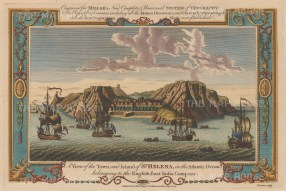 "Millar: St Helena. 1782. A hand coloured original antique copper engraving. 13"" x 8"". [AFRp938]"