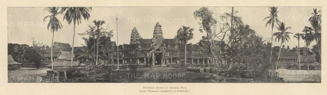"Clifford: Angkor Wat, Cambodia. 1905. An original antique photolithograph.15"" x 4"". [SEASp1733]"