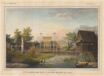 "Van de Velde: Goenn, Borneo. 1850. An original colour antique lithograph. 13"" x 9"". [SEASp67]"
