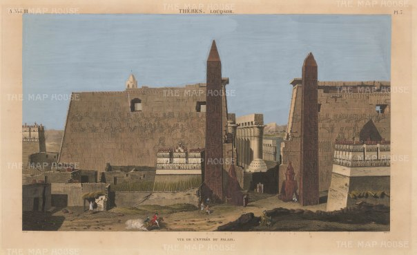 Luxor: Entrance to the Palace, Imperial edition of the Description de l'Egypte which recorded the highly influential Napoleonic expedition.