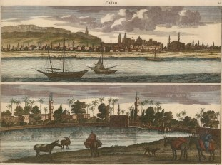 Double Panorama of Cairo: Contemporaneous view before the considerable expansion and development of the 19th century.