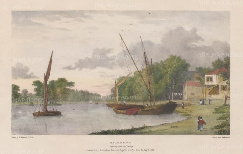Richmond. View looking from the Bridge. After William Westall, RA.