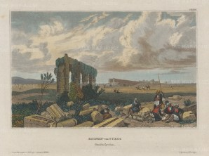 "Meyer: Tyre. 1836. A hand coloured original antique steel engraving. 8"" x 6"". [MEASTp1473]"