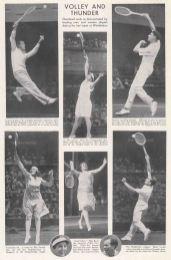 "Graphic Magazine: Wimbledon.1903. A hand coloured original antique wood engraving. 9"" x 14"". [SPORTSp3492]"