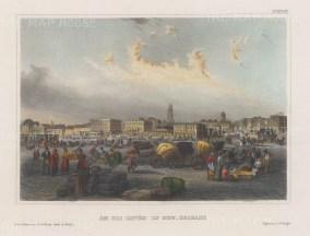 "Meyer: New Orleans, Louisiana. 1857. A hand coloured original antique steel engraving. 8"" x 6"". [USAp4797]"