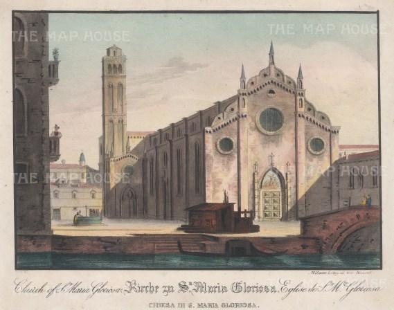 Venice: Santa Maria Gloriosa dei Frari. East Front with the Campanile.