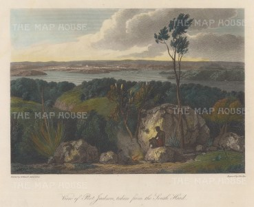 Port Jackson (Sydney) from South Head: After William Westall, artist on HMS Investigator.