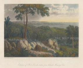 Port Lincoln Bay: View from behind Memory Cove. After William Westall, artist on the HMS Investigator.