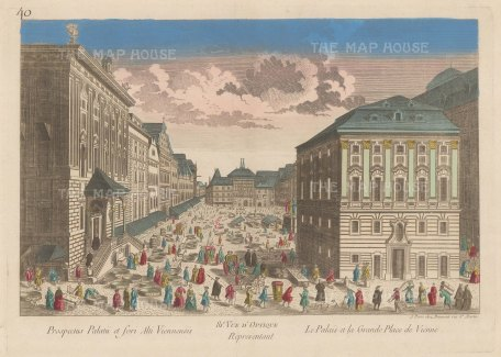 Hofburg Palace, Perspective of the principal square looking towards the Schweizertor (Swiss gate).