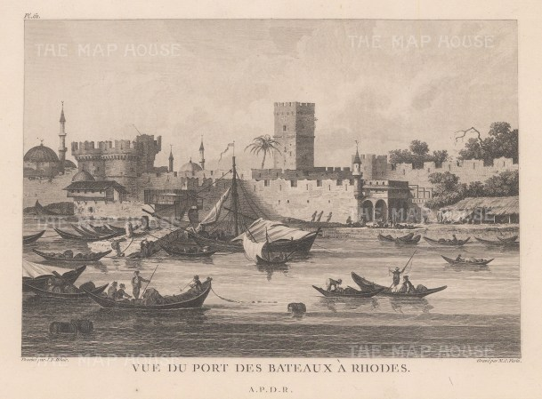 View of the harbour and Castle of the Grand Master.