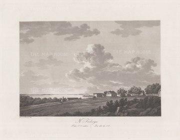 "Thersner: Freberga, Denmark.1820. An original antique aquatint. 13"" x 9"". [SCANp62]"