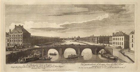"Sayer: Paris. 1774. An original antique copper engraving. 18"" x 10"". [FRp1570]"