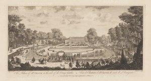 Chateau de Saint-Cloud: View from the Orange Garden.