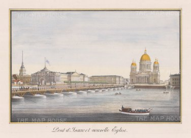 St. Isaac's Cathedral. Showing the cathedral, begun in 1818, before its completion in 1858.