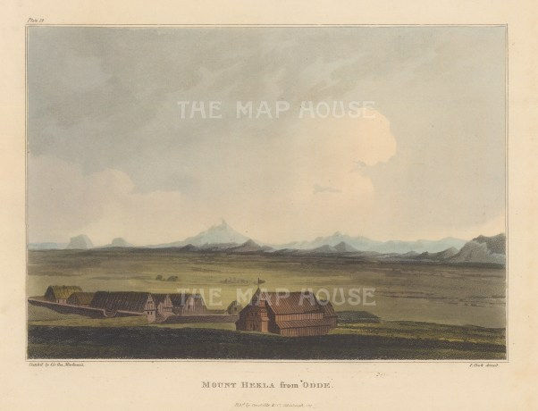 View from Odde. Rare view sketched by Mackenzie on his geological expedition to Iceland with explorer Henry Holland and physician Richard Bright.