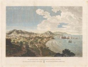 """Moulinier: Barcelona. 1806. A hand coloured original antique copper engraving. 16"""" x 12"""". [SPp967]"""