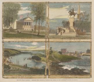 "Illustrated London News: Richmond, Virginia. 1861. A hand coloured original antique wood engraving. 9"" x 6"". [USAp4956]"