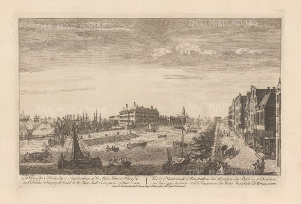 Admiralty at Amsterdam. View of the Lands Zeemagazijn (Sea Arsenal), stores and docks of the East India company, now the National Maritime museum.