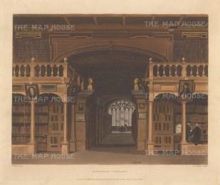 "Ackermann: Bodleian Library. 1814. An original colour antique aquatint. 11"" x 8"". [OXONp360]"