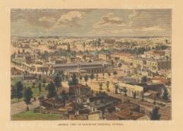 Reclus: Sandhurst (Bendigo). 1894. A hand coloured original antique wood engraving. [AUSp736]