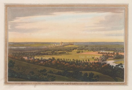 Panoramic view from Coopers Hill. After Joseph Farington.