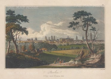 "Fisher: Berlin. 1829. A hand coloured original antique steel engraving. 8"" x 6"". [GERp1277]"