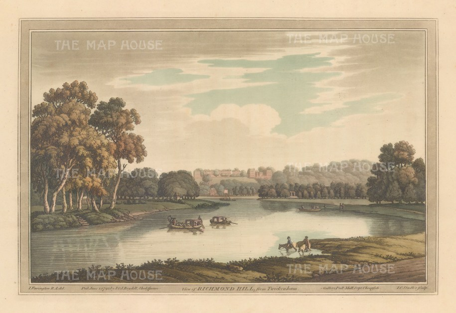 Richmond. View of Richmond Hill from Twickenham. After Joesph Farington.