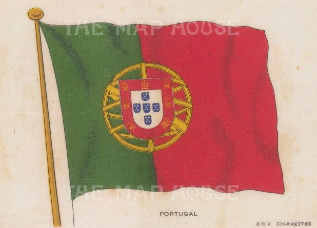 "BDV Cigarettes: Portugal. c1910. Original printed colour on silk. 6"" x 4"". [ARMp100]"