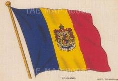 "BDV Cigarettes: Romania. c1910. Original printed colour on silk. 6"" x 4"". [ARMp104]"