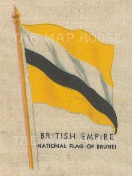 """Kensitas Cigarettes: Brunei. c912. Original printed colour on silk. 2"""" x 3"""". [ARMp11]"""