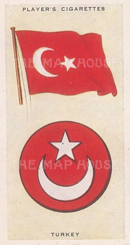 "Player's Cigarettes: Turkey. c1935. An original antique chromolithograph. 1"" x 3"". [ARMp120]"