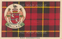 "BDV Cigarettes: Wallace. 1910. Original printed colour on silk. 7"" x 5"". [ARMp131]"