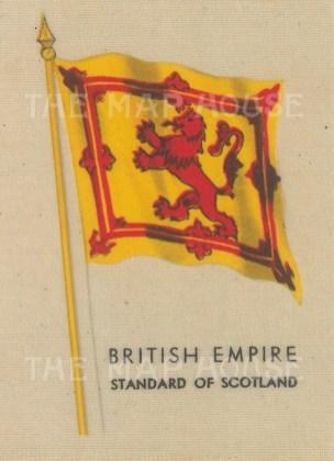 "Kensitas Cigarettes: Royal Standard of Scotland. Original printed colour on silk. 2"" x 3"". [ARMp154]"