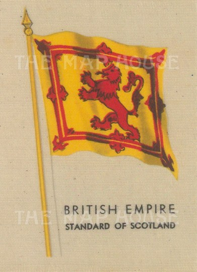 "Kensitas Cigarettes: Royal Standard of Scotland. Original printed colour on silk. 2"" x 3"". [ARMp154]"