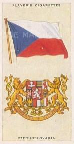 """Player's Cigarettes: Czech Republic. c1935. An original antique chromolithograph. 1"""" x 3"""". [ARMp27]"""